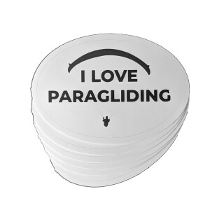 I Love Paragliding Sticker